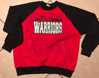 Adult School Spirit Raglan Sweatshirt with Pockets