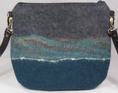 Felt Messenger Bag, Felt Cross Body Bag, Felt Handbag, Felt Bag, Felt Purse, Messenger Bag, Cross Body Bag, Shoulder Bag,Green Wool Felt Bag