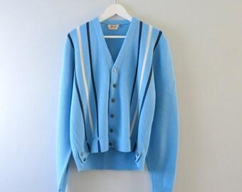 Vintage College Sweater | 1940s Bond Fifth Avenue University College Cardigan Sweater L
