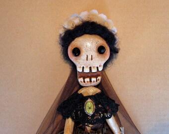 Aurelia - a spooky cute handmade Halloween skeleton doll