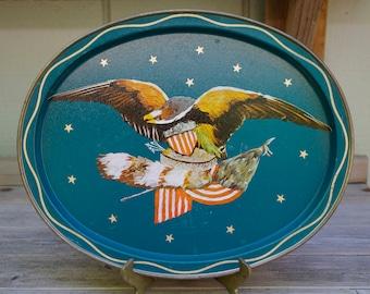 Vintage American Eagle Metal Tray