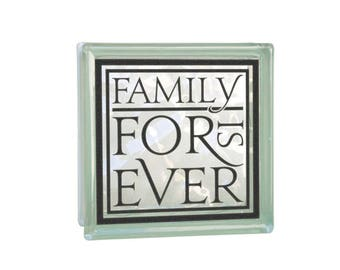 Vinyl Decal Family Decal Home Decor Mantel Decor DIY Vinyl Projects DIY Lighted Glass Block Decal Sticker Tile Decal Family Is Forever Small