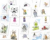 A4 original illustrations - commissions