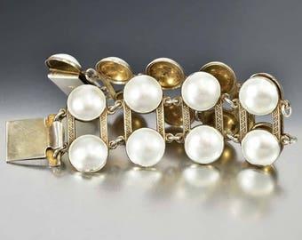 Sterling Silver Enamel Bracelet, Aksel Holmsen Bracelet, Wide Bracelet, Vintage Norwegian Jewelry, Norwegian Bracelet, Guilloche Enamel