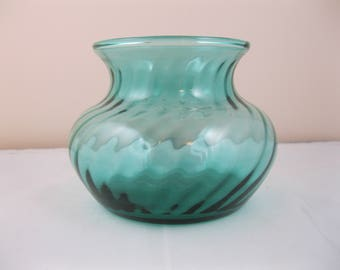 Glass Vase, Turquoise
