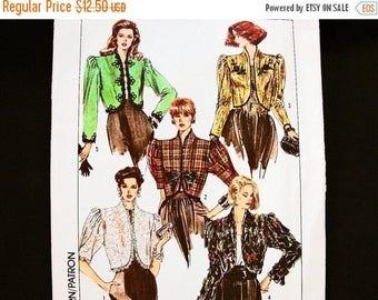 SALE 25% Off Womena Bolero Jacket Pattern size 8 Evening Jacket, Dressy Short Jacket Simplicity Sewing Pattern