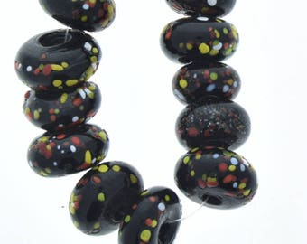Big Hole Glass beads, 20mm,donut shape, 5mm hole, sold by 12 inch strand  08217