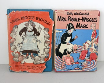 Lot 2 Mrs. Piggle Wiggle Book by Betty MacDonald and Mrs. Piggle Wiggle's Magic Story H/C 1st Edition