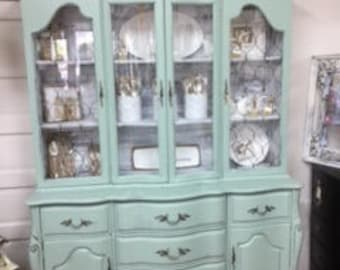 French Provincial Hutch..China Cabinet... Display Cabinet ... Book Case