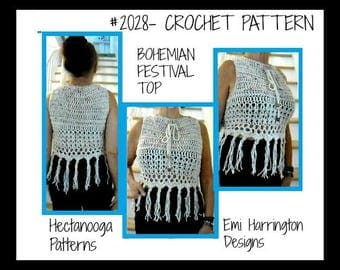 halter top, crochet pattern, easy pattern includes size: S, M,L,XL,XXL, #2028-, child,teen and women's clothing, summer top, beach wear,