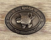 Kool Aid Man Belt Buckle Indiana Metal Craft Vintage Silver Retro Kids Drink