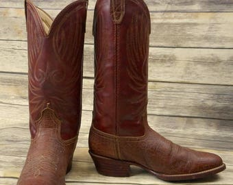 Vintage Cowboy Boots Acme Brown Mens Size 8.5 D Country Western Rockabilly Shoes