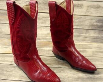 Lizard Cowboy Boots Etsy
