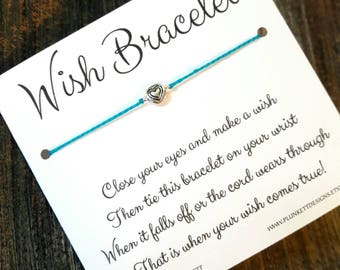 Wish Bracelet - Available In Over 100 Different Colors!!!  (Little Hearts)