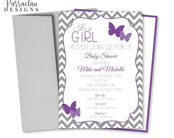 Butterfly Baby Shower Invitation | Butterfly Shower Invitation | printable | digital {BS03}