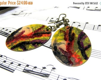 On Sale Hand Painted Brass Earrings Top Selling Jewelry Most Popular Jewelry Gift Ideas for Women