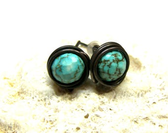 ON SALE Gemstone Post Stud Earrings Agate Earrings Earrings Turquoise Post Earrings Top Selling Jewelry Gold Stone Post Stud Earrings