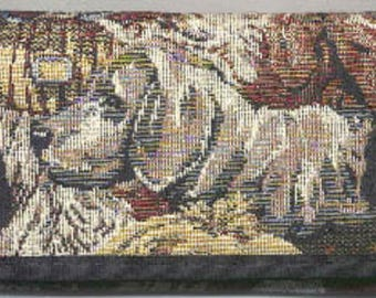 Tapestry Fabric WEIMARANER Ladies Wallet/Checkbook made in USA