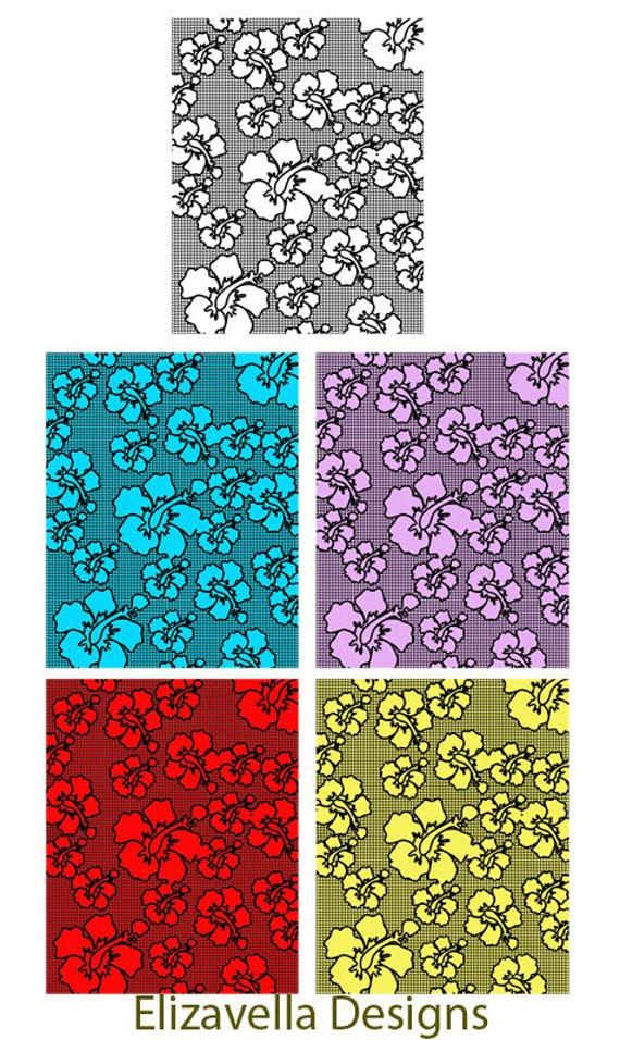 5 colors orchid flower pattern digital background floral wallpaper background instant download digital download digital art paper printables