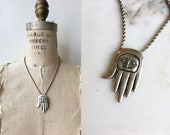 Salish Healing Hand necklace | sterling silver Alaska hand necklace | First Nations jewelry