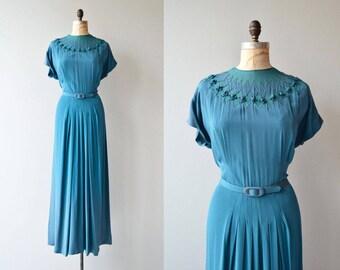 Adrastea dress | vintage 1940s dress | full length 40s dress