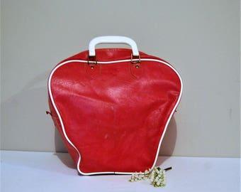 Vintage Rockabilly Bubble Gum Pink Bowling Bag
