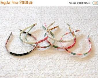 Celebrate8K Romantic Boho Rose Print Teeny Headbands - Set of 6