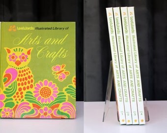 Vintage 4-volume retro set of LeeWards Illustrated Library of Arts and Crafts from 1974