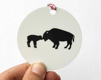 Buffalo, NY Christmas Ornament, Buffalo Christmas Gift, new baby christmas ornament, first christmas ornament