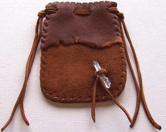 Leather Medicine Bag...RUST