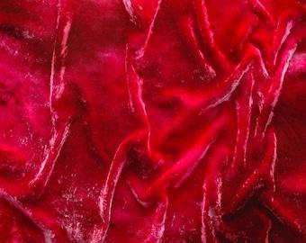Hand dyed silk rayon velvet