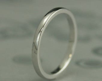 18K Gold Band~18K Gold Ring~Women's Gold Band~Women's Gold Ring~Gold Wedding Band~Gold Wedding Ring~2mm x 1.5mm Substantial Ring~Plain Jane