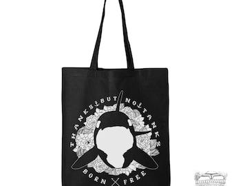 ORCA No Tanks - Eco-Friendly Market Tote Bag - Hand Screen printed (Ships FREE!)