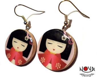 Little Japanese girl - earrings