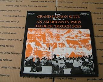 1960s Grof'e grand canyon suite Boston pops orchestra Arthur Fiedler  33-1/3 rpm vinyl on RCA victrola # VICS-1423