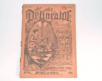 April 1891 Delineator - Antique Women's Magazine