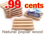 99 CENT SOAP DISH!! - Natural poplar wood soap dish - Just .99 cents each!
