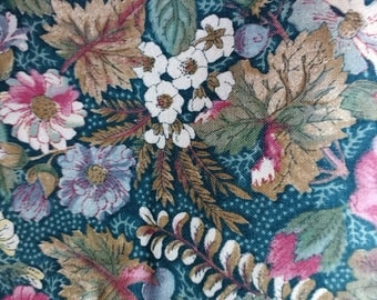 Vintage Floral Fabric Concord Fabric Co  Joan Kessler Design for Concord Fabric Co Made in USA Yards 6 5/8 yard lot  Width 45 inches Cotton