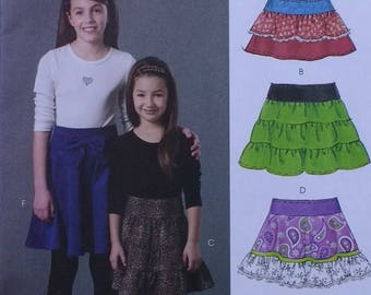 Mccalls M5920 Girls Ruffled Skirt Pattern  Six Great Looks in One Easy Pattern Girls Sizes 3 4 5 6