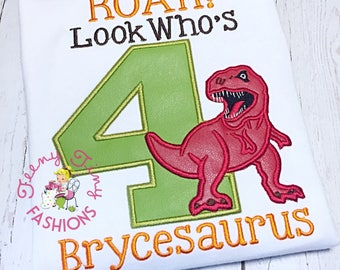 Dinosaur Birthday Shirt ~ Dino Birthday ~ Dinoland Birthday ~ Jurassic Birthday ~ Dinosaur Party ~ TRex ~ T-Rex Shirt