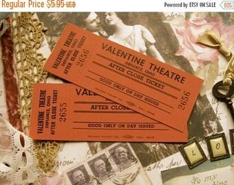 ONSALE Vintage Valentine Antique Valentine Tickets Light Cardboard Mint Condition