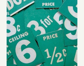 ONSALE Vintage Price Tags DOZEN