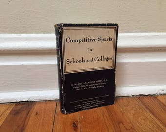 Competitive Sports in Schools and Colleges Book Coaching High School Football Athletics Physical Education Vintage 1951