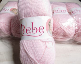Oxford Bebe Baby Yarn in Baby Pink