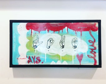 Abstract LOVE Hands painting