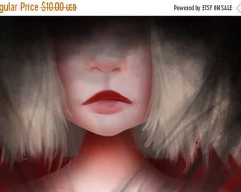 50% Off SALE 5x7 Fine Art Print - 'Secret' - Artwork by Jessica Grundy