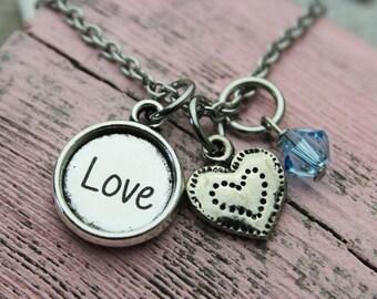 Custom Love Charm Necklace