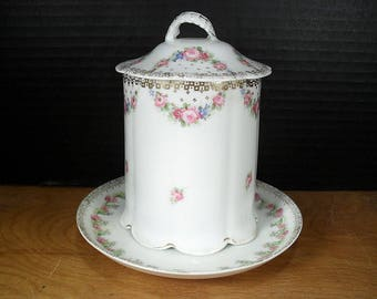 Victorian Condensed Milk Container with Underplate - Bavarian Porcelain