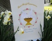 Communion Banner Embroidered CUSTOM made RESERVED