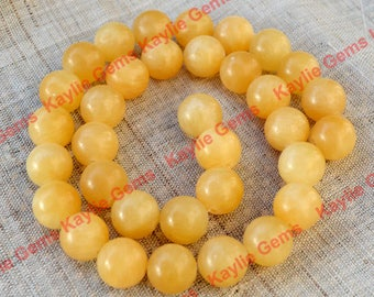 High Quality 12mm Aragonite Semi Precious Gemstone Beads - 16inch Full strand 34 beads, only 1 strand available